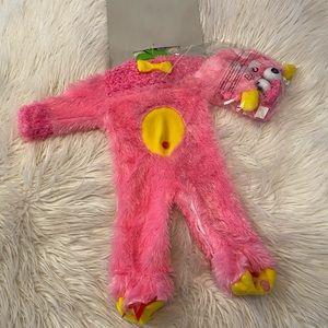 Babies pink monster costume (M)